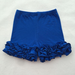 Wholesale Triple Ruffle - Icing Baby Shorts Summer Girls Shorties Pants Triple Ruffle Girls Pants Knit Cotton Factory Girls Legging