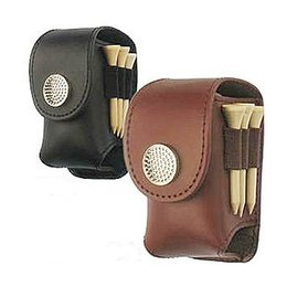 Wholesale golf ball swing - Wholesale- golf tee repair tool ball real leather material golf pouch