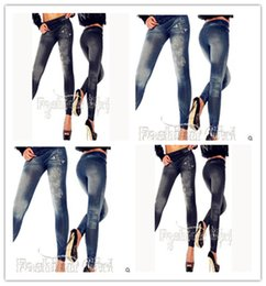 Wholesale Drawing Leggings - Imitation cowboy tattoo coloured drawing or pattern Butterfly print leggings Nine points pants tattoo leggings