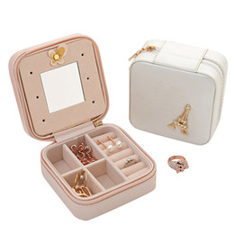 Wholesale Casket Packaging Boxes - Jewelry Packaging Box Casket Box For Exquisite Makeup Case Cosmetics Beauty Organizer Container Boxes Graduation Birthday Gift