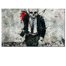 Wholesale Inner Painted - Wholesale Scary Skeleton Picture Printed on Canvas Modern Inner Decor Canvas Wall Art Abstract Painting Canvas Prints