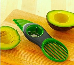 Wholesale Tools Vegetables - New Kitchen 3 in 1 Fruit Vegetable Tools Avocado Slicer Pitter Splitter Slices Kitchen Accessories