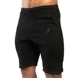 """Wholesale Inseam Length - Wholesale- Men's Gyms Shorts With Pockets Bodybuilding Clothing Men Golds Athlete Fitness Bermuda Weight Lifting Workout Cotton 4"""" Inseam"""