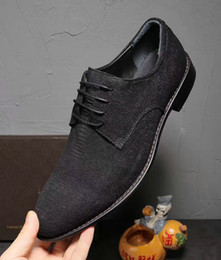 Wholesale Italian Office Shoes - Newest Black Genuine Leather Lizard Pattern Italian Style Men's Shoes Loafer Dress Shoes Oxfords Office Suit Wedding Party Shoes,Size:38-44