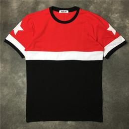 Wholesale mens red star t shirt - 2017 fashion brand Mens T-shirts RED Short Sleeve Casual tshirt Tee Tops Mens with Short tee tee stars printed