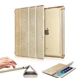 Wholesale Slim Magnetic Ipad Cases - For iPad 2 3 4 Gold Magnetic Slim PU Leather Flip Stand Smart Case Cover Protective Shell