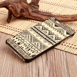 Wholesale Wood Pattern For Carving - 2017 Brand New Wood Cell Phone Case Carving Animal Pattern Phone Case with PC for iPhone 8 for iPhone 10 6plus 7 plus