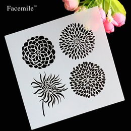Wholesale Dragonfly Inks - Wholesale- Facemile Flowers Dragonfly Spilling Ink Layering Stencils For DIY Decorative Embossing Paper Cards Crafts Stamps Free Shipping
