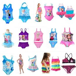 Wholesale Toddler Swim Wholesale - Baby Kids Clothing 2017 summer princess Swim Two-Pieces Swimsuit Bikini Girls swimwear swiming suits One-Pieces toddler clothes wholesale