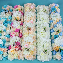 Wholesale Wedding Table Decorations Wholesale - flower wedding Road lead flowers long table centerpieces flower Arch door lintel silk rose wedding party backdrops decoration