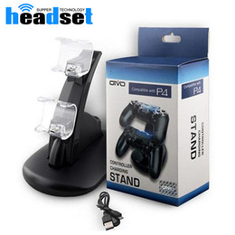 Wholesale Game Charger - Universal Dual Controllers Charger Charging For Play Stations PS4 X-box Controller Charging Dock Station Game Stand holder