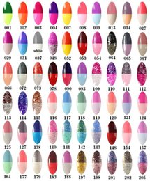 Wholesale Uv Gel Nails Glue - Temperature Glue Nails Chameleon Color Changing UV Gel Polish Phototherapy qq Barbie Chloden Nail glue 205 colors style