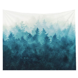 Wholesale Handmade Tapestries - Forest Tapestries Wall Hanging Tapestry Fabric Wallpaper Beach Towel Instant Popular Mat Home Decor,150*130cm 59*51in
