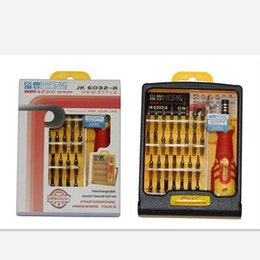 Wholesale Pcs Kit Screwdriver - Jackly JK-6032-A 32 in 1 Pocket Screwdriver Set Tool Kit Magnetic Head for Mobile Phone PC Laptop