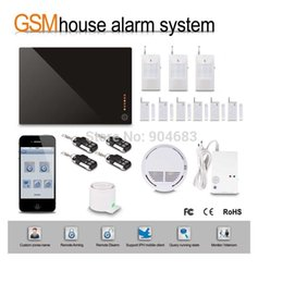 Wholesale Diy Wireless Home Security Alarm - Wholesale- G1D-1 DIY Wireless GSM alarm System HOME Security BURGLAR ALARM KIT with PIR Sensor detector Siren Door window sensor,gift box