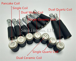 Wholesale Ego Hot - HOT!!! Dual coil 510 skillet wax atomizer double coil skillet quartz atomizer Ego-M7 D atomizer wax burning device vapor D Globe glass tank