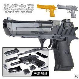 Wholesale Gun Toy New - NEW Educational kid toys building blocks gun model building kit assembling pistol Desert Eagle children assembled toy