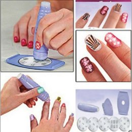 Wholesale Stamping Device Nail Art Plate - Color Women Professional DIY Manicure Set Nail Art Pattern Templates Plate Polish Stencil Stamping with Scraper Nail Art Printing Device