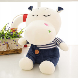 Wholesale Lovely Couple Teddy Bear - Cute Hippo doll couple pillow doll plush toys gift in very lovely creative mind gift gifts for the children you deserve.