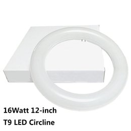 Wholesale Ring Fluorescent Light - 12 Inch Circline 16W T9 LED Light Bulb Daylight 6000K Replacement for Fluorescent FC12T9 without Ballast circular ring tube circle lighting
