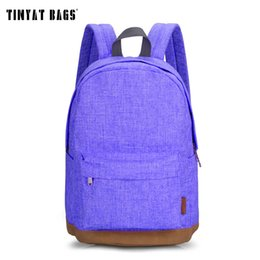 Wholesale Casual Fashion For Teenage Girls - Wholesale- TINYAT Canvas School Backpack Student Casual Women Men backpacks for teenage Laptop Rucksacks for girls Travel Bag T101 Mochia
