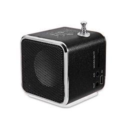 Wholesale Portable Mini Media Speaker - Wholesale-Portable Mini Speaker Radio LED Music Stereo Media Radio TF Card Music Player TD-V26 FM Radio USB Micro SD For PC Laptop