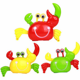 Wholesale Crab Wind Up Toy - Wholesale-1 Pc Classic Clockwork Crab Toy Lovely Baby Plastic Spring Children Kids Gift Wind Up Gag Toys Novelty Gifts Christmas