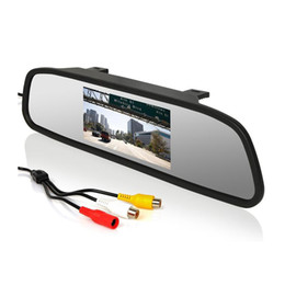 """Wholesale Dvd Video Cameras - 4.3"""" Color TFT LCD Car Rear view Mirror Monitor FR Screen Reverse Paking Camera DVD Video Input"""