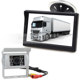 Wholesale Camera System For Buses - 5inch Video Car Monitor IR Car Camera Rear View Camera Security System Parking Reversing System Kit for Car Van Truck Bus