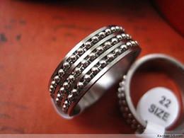 Canada En gros 36pcs / pack argent hommes mode mix styles de styles en acier inoxydable perles chaîne bijoux anneaux flambant neuf Offre