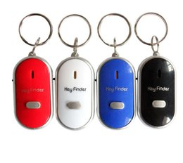 Wholesale Remote Key Chain Finder - Remote Key Finder Locator Find Lost Keys Mobile Chain Mobile finder Purse Finder Keychain Whistle Sound Control With ON OFF Switch