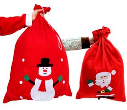 Wholesale Santa Claus Backpack - Chrismas Gift Bags Backpack Cartoon Santa Chrismas Gift Bags Backpack Cartoon Santa Gift Wrap Claus Super Soft Sack Christmas Candy Bags dra