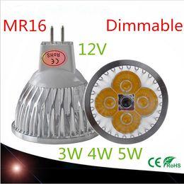Wholesale Mr 16 12v - Wholesale High power chip LED bulb MR16 3W 4W 5W 12V Dimmable Led Spotlights Warm Cool White MR 16 base LED lamp