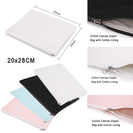 Wholesale 2017 Cotton Canvas Clutch Bag Purse Handbag File Pocket Coin Purse Cosmetic Debris Storage Bag Cloth Bale Zipper Enclosure Cotton Lining