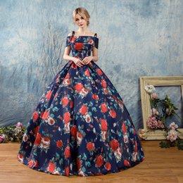 Wholesale Cheap Costume Corsets - Modern Printed Prom Dresses Custom Made Satin Spaghetti Straps Ball Gown Masquerade Dresses 2017 Corset Evening Party Gowns Costume Cheap