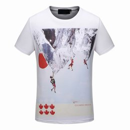 Wholesale Rock Climbing Shirt - New Arrival 2017 Men T-Shirt Rock climbing Print Short Sleeve T Shirts Men Slim Plus Size M-3XL T-Shirt 3633
