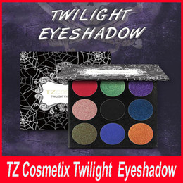 Wholesale TZ Cosmetix Twilight Colors Eyeshadow Palette Matte Shimmer Diamond Foiled Colors eye shades Top Quality