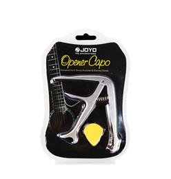 Wholesale Guitar Capo Silver - JOYO JCP-02 Durable Silver Metal 3 In 1 Multifunction Guitar Capo Bottle Opener Guitar Bridge Pins Puller&JOYO Guitar Picks