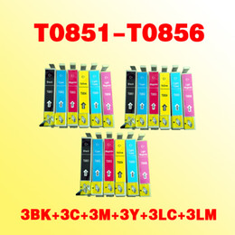 Wholesale Epson Photo Ink Cartridge - 18pcs T0851-T0856 INK cartridge compatible for Epson Stylus Photo 1390 R330