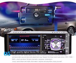Interfaz usb bluetooth online-12 V 4,1 pulgadas Bluetooth HD Coche digital Radio FM Reproductor MP5 con USB SD AUX Interfaz Definición One Din TFT Audio Reproducción de video