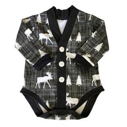 Wholesale Popular Coat Brands - Ins Popular Kids One-piece Rompers 2016 Baby Boys Girls Christmas Long-sleeve Jumpsuit Children Reindeer Spring Autumn Coat