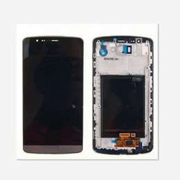 Wholesale Touch Screen Display Parts - For LG G3 D850 D851 D855 VS985 LCD Display Touch Screen Digitizer With Frame Replacement Parts 1pcs lot free shipping