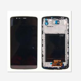 G3 partes online-Para LG G3 D850 D851 D855 VS985 pantalla LCD digitalizador de pantalla táctil con marco de piezas de repuesto 1 unids / lote envío gratis