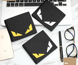 Wholesale Slots Cash - Small monster wallet Fashion Color eye purse Cool short cash Casual note case Money notecase Leather burse bag Cartoon Card holders