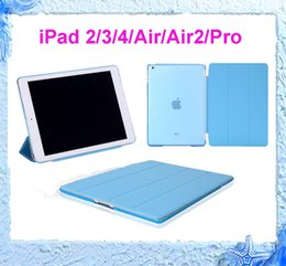 Wholesale Ipad Cases Free - Hot Tablets Case for iPad 2 3 4 air 2 Pro 9.7 Magnetic Smart Cover Back Cases With Sleep Wake free shipping