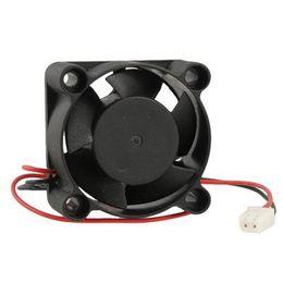 Ventilador axial de 12v dc online-Al por mayor- CAA Hot 40 x 40 x 20 mm 4020 5 cuchillas sin escobillas DC 12V ventilador de refrigeración axial