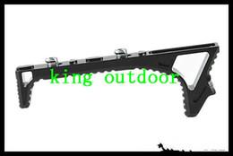Wholesale forward shipping - New Black Aluminum Tactical Keymod Angled Forward Grip Hand Stop 118 mm Foregrip Handstop for Keymod System Free Shipping