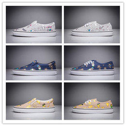 Wholesale Cartoon Basketball Shoes - New Arrival Cute Design Cartoon Canvas Shoes Outdoor Leisure Fashion Sneakers Flats trainers Van