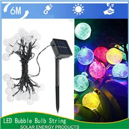 Wholesale Wholesale Christmas Lawn Decorations - Solar String Light Waterproof Multicolour 6 Meters 30 LED Crystal Ball for Christmas Tree Patio Lanscape Holiday Wedding Lawn Decoration