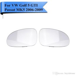 Wholesale Heated Seats Cars - 2x Heated Exterior Door Mirror Glass For VW Golf 5 GTI Passat b5.5 MK5 R32 Rabbit Seat Skoda 2006 2007 2008 2009 Car Styling #P411